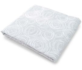 Spot On Square Spun Organic Fitted Crib Sheet - Grey
