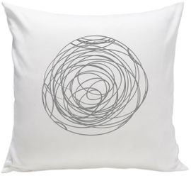 Spot On Square Spun Organic Pillow - Grey