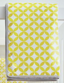 Spot On Square Tops Organic Quilt - Yellow