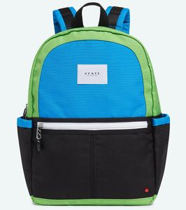 State Bags Kane Backpack Diaper Bag - Black/Green