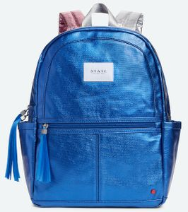 State Bags Kane Backpack Diaper Bag - Blue Metallic