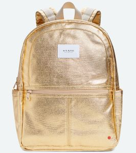 State Bags Kane Backpack Diaper Bag - Gold Metallic