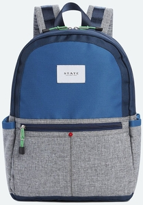 State Bags Kane Backpack Diaper Bag - Navy/Heather Gray