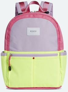 State Bags Kane Backpack Diaper Bag - Pink/Lemon