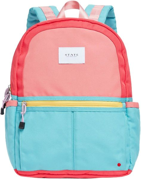 State Bags Kane Backpack Diaper Bag - Pink/Mint