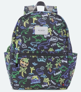 State Bags Kane Kids Backpack - Neon Dino