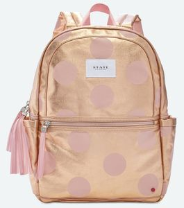 State Bags Kane Kids Backpack - Rose Gold Dots