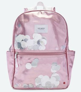 State Bags Kane Kids Backpack - White Sequins