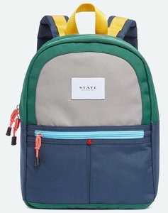 State Bags Mini Kane Kid Backpack - Green/Navy