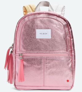 State Bags Mini Kane Kid Backpack - Pink Metallic