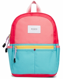 State Bags Mini Kane Kid Backpack - Pink/Mint