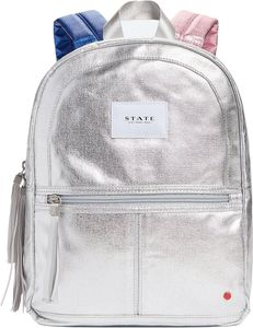 State Bags Mini Kane Kid Backpack - Silver Metallic