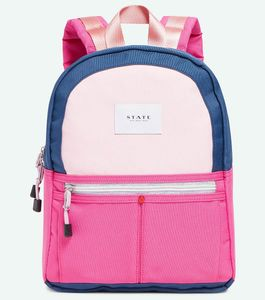 State Bags Mini Kane Kids Backpack - Navy/Rose