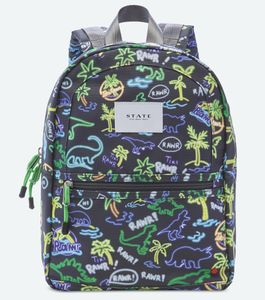 State Bags Mini Kane Kids Backpack - Neon Dino