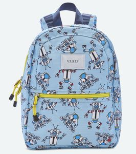 State Bags Mini Kane Kids Backpack - Robots