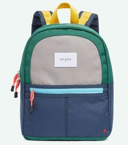 State Bags Mini Kane Travel Kids Backpack - Green/Navy