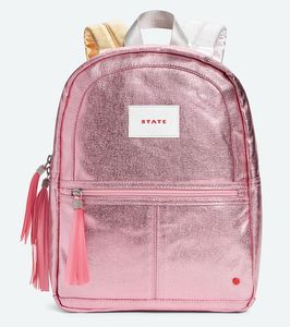 State Bags Mini Kane Travel Kids Backpack - Pink/Silver