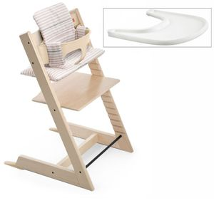 Stokke Tripp Trapp Complete High Chair - Natural/Pink Stripe (Albee Exclusive)