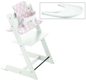 Stokke Tripp Trapp Complete High Chair - White/Pink Chevron