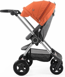 Stokke Scoot Complete Stroller - Black Melange/Orange