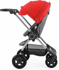 Stokke Scoot Complete Stroller - Black Melange/Red