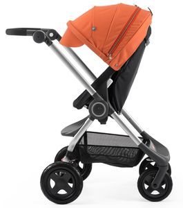 Stokke Scoot Complete Stroller - Black/Orange