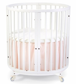 Stokke Sleepi Mini Bed Skirt by Pehr - Blush