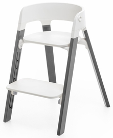 Stokke Steps Chair - White/Storm Grey