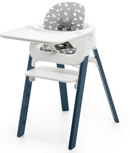 Stokke Steps Complete High Chair - Midnight Blue/Grey Clouds/White