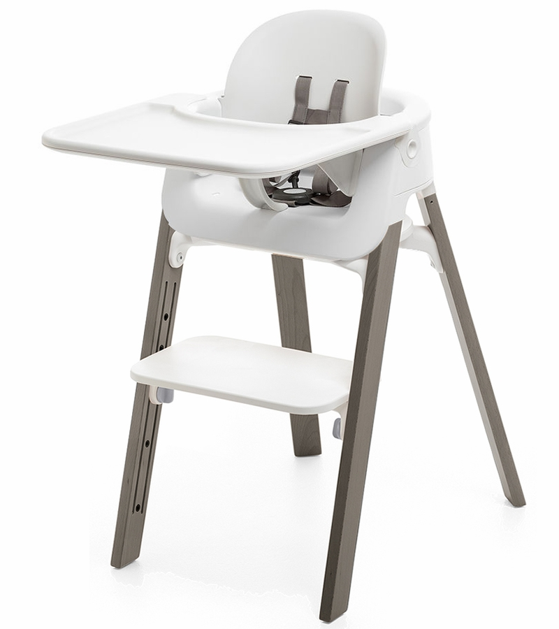 Stokke Steps Complete High Chair White Hazy Grey
