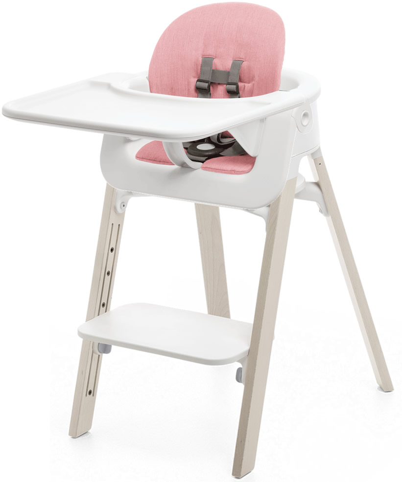Stokke Steps Complete High Chair With Cushion White