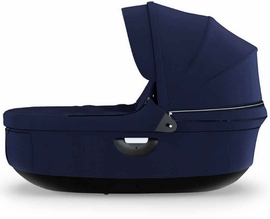 Stokke Stroller Black Carrycot - Deep Blue