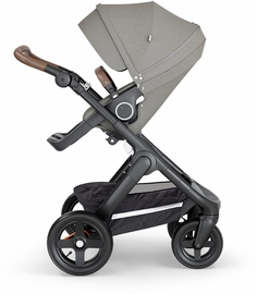 Stokke Trailz All-Terrain Stroller - Black/Brushed Grey