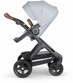 Stokke Trailz All-Terrain Stroller - Black/Grey Melange