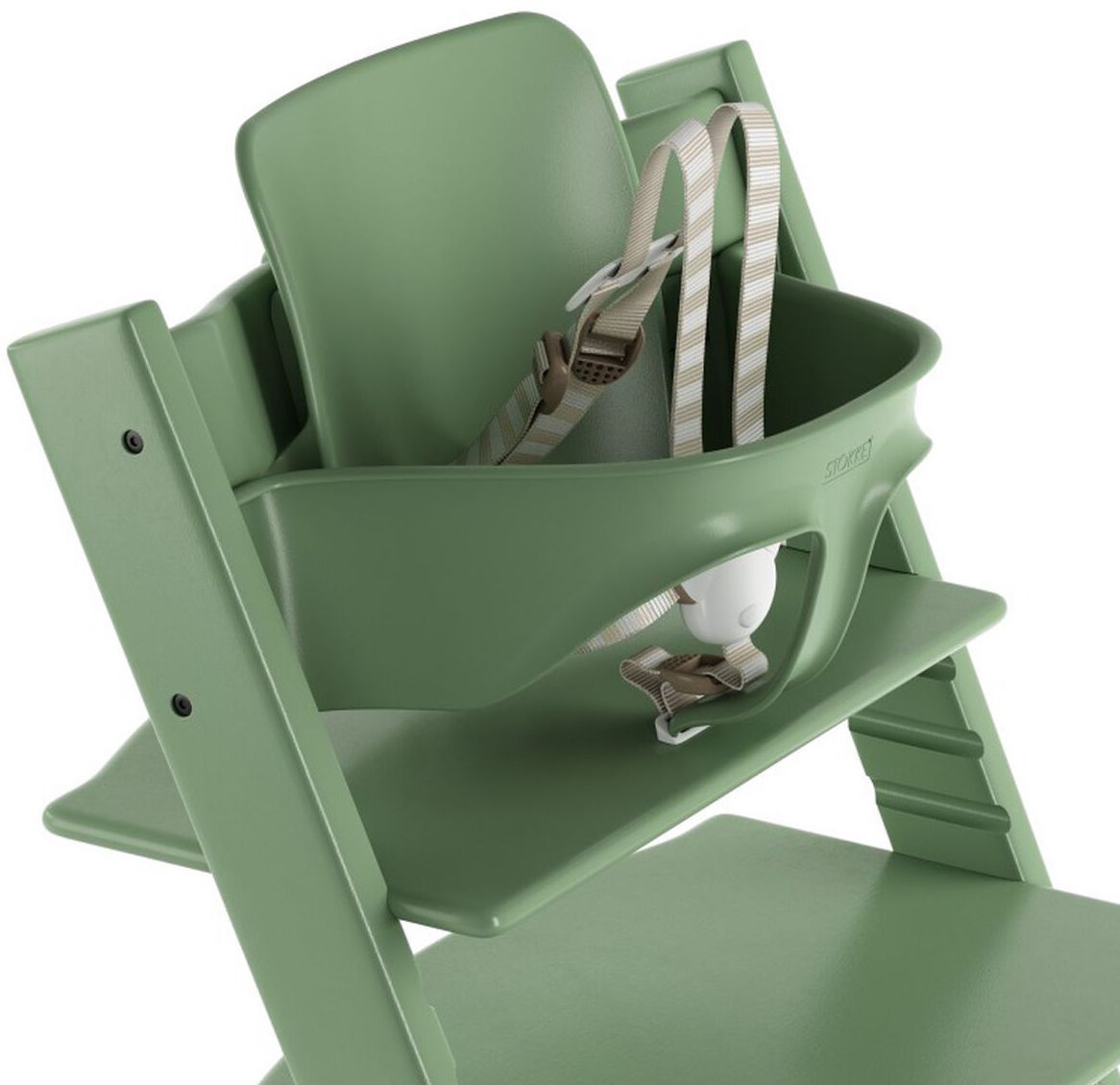 Stokke Tripp Trapp Baby High Chair w// Baby Set /& Extended Gliders Moss Green