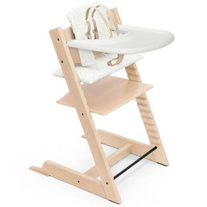 Tripp Trapp High Chair and Cushion with Stokke Tray - Natural / Sweet Hearts