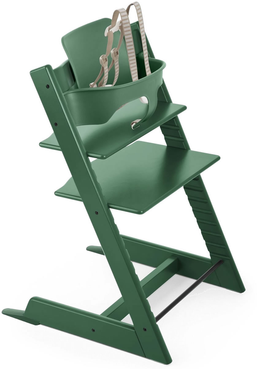 Trip Trap Kinderstoel.Stokke Tripp Trapp High Chair Baby Set 2018 Forest Green