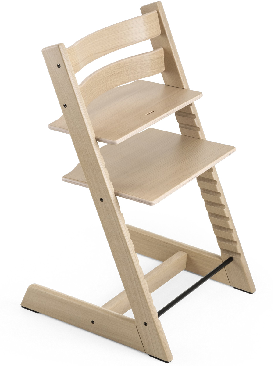 Tremendous Stokke Tripp Trapp Oak High Chair White Gmtry Best Dining Table And Chair Ideas Images Gmtryco