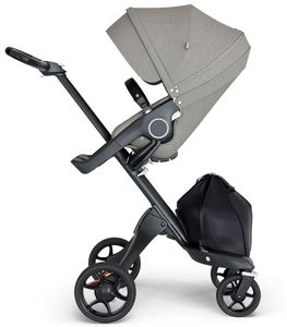 Stokke Xplory 6 Stroller - Brushed Grey/Black/Black
