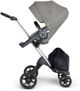 Stokke Xplory 6 Stroller - Brushed Grey/Silver/Black