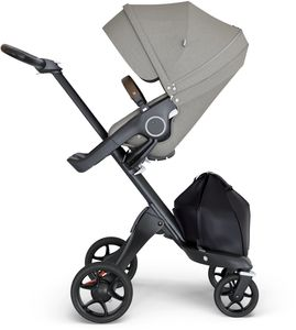 Stokke Xplory 6 Stroller - Brushed Grey/Black/Brown
