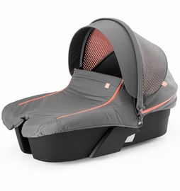 Stokke Xplory Athleisure Carry Cot Complete Kit - Black/Coral
