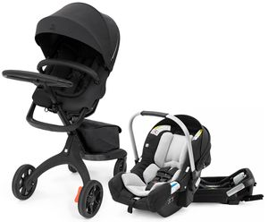 Stokke Xplory X + Stokke Pipa Travel System Bundle - Rich Black / Black