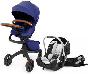 Stokke Xplory X + Stokke Pipa Travel System Bundle - Royal Blue / Black