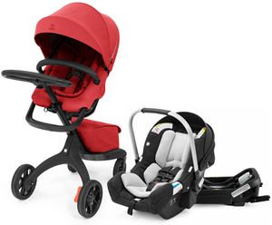 Stokke Xplory X + Stokke Pipa Travel System Bundle - Ruby Red / Black