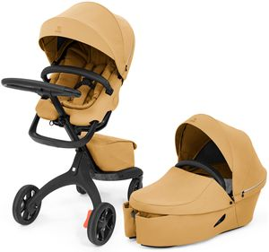 Stokke Xplory X Stroller + Carry Cot Bundle - Golden Yellow