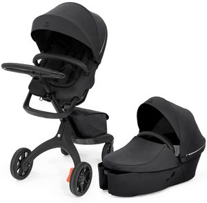 Stokke Xplory X Stroller + Carry Cot Bundle - Rich Black