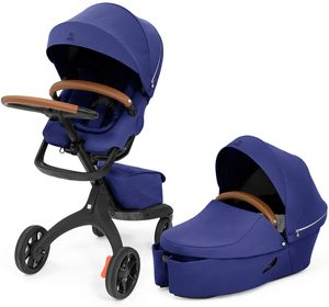 Stokke Xplory X Stroller + Carry Cot Bundle - Royal Blue