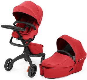 Stokke Xplory X Stroller + Carry Cot Bundle - Ruby Red