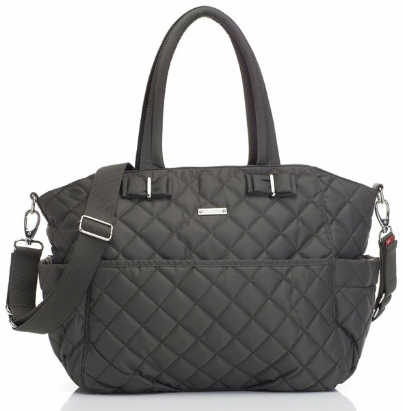 Storksak Bobby Quilted Diaper Bag - Charcoal